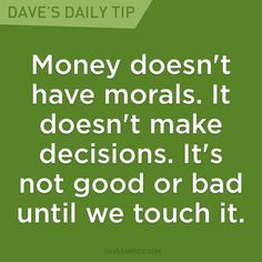 finance quotes Money becomes what we make of it. Finance Jobs, Finance Quotes, Finance Blog, Financial Guru, Financial Peace, Financial Planning, Tapenade, Total Money Makeover, Friendship Day Quotes