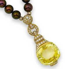 yellow necklaces | Cartier Yellow Sapphire Necklace | The Fashion Street