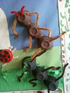 Egg Carton Ants Craft Idea for kids