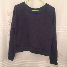 Alternative Apparel Cropped Sweatshirt Size Small Alternative Apparel Eco True Navy cropped sweatshirt, color is a greyish blue.  Size Small.  Huge fan of this fabulous comfy brand! Alternative Apparel Tops Sweatshirts & Hoodies