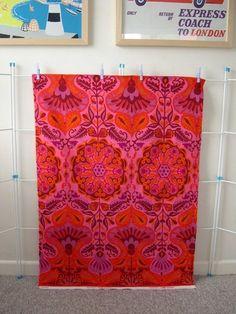 "vintage 1960s Jonelle furnishing fabric ""marrakesh"" by Jyoti Bhomik"