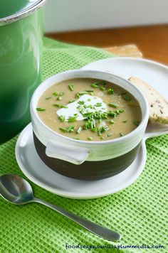 Looking for a creamy potato leek soup for St. Pattys Day? Look no further! You wont believe its Vegan its so yum...