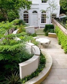beautifully landscaped terrace