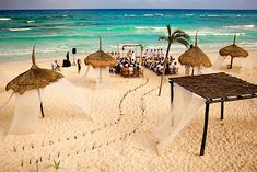Stunning Beach Wedding Aisle and ceremony Design. beach weddings are so much fun.. can be comfortable just abit more laid back than the big church event...  via:weddingphotography.com