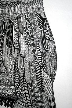 Owl Illustration 2.0 by Lucia Paul, via Behance- so much detail and texture. I am fascinated.