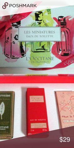 L'Occitane Les Miniatures Perfume Set Perfume minis set of 3. Verveine. Fleurs de Cerisies. Roses et Reines. Perfumes are full. L'Occitane Other