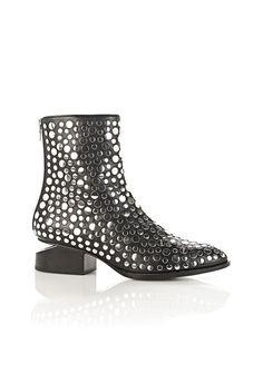 ALEXANDER WANG Studded Anouck Boot With Rhodium. #alexanderwang #shoes #