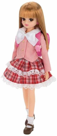 Licca Chan Doll School Girl Pink Satchel Clothes Dress Japan Takara Tomy Outfit | eBay
