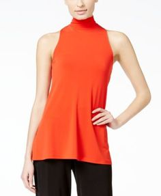 Alfani PRIMA Mock-Turtleneck Sleeveless Knit Top, Only at Macy's