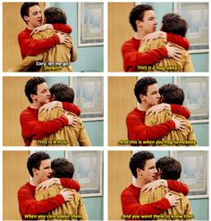 Cory and Shawn } Boy Meets World This scene is in the hospital when Mr Turner's life is at risk