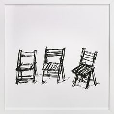 Three Chairs by Michael Hovitch at minted.com