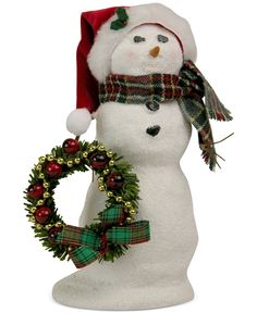 Byers' Choice Snowman with Wreath