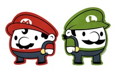 Mario and Luigi...short and stubby lol Retro Gaming : http://www.helpmedias.com/retrogaming.php