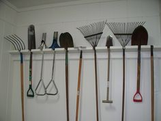 Garden tool organization for the garage?