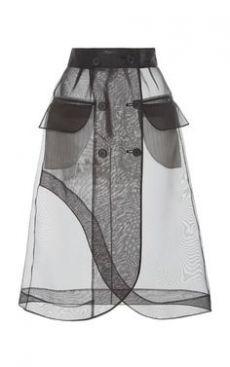 This **Kimhēkim** Guifei Organza Skirt features a high waist with an a-line silhouette and flap pockets. Fashion Details, Look Fashion, Skirt Fashion, Spring Fashion, Fashion Show, Fashion Dresses, Womens Fashion, Fashion Design, Fashion Trends