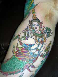 Thai Mermaid Tattoo by Jimmy...