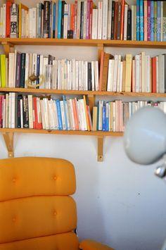 An historic apartment in Alfama, Lisbon& oldest neighborhood. An historic apartment in Alfama, Lisbons oldest neighborhood. Bookshelf Storage, Stair Storage, Bookshelves, Bookcase, Lisbon, Beautiful Landscapes, Cool Photos, The Neighbourhood, Reading Nooks