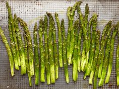 I love simple asparagus...for our holiday table we usually parboil it with garlic cloves until al dente and serve it topped with a drizzle of olive oil, fresh dill and lemon...delicious!