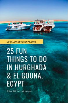 25 fun things to do in Hurghada and El Gouna, on the Red Sea in Egypt. Egypt Travel, Africa Travel, Best Resorts, Best Vacations, Amazing Destinations, Travel Destinations, Hurghada Egypt, San Francisco, Valley Of The Kings