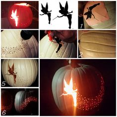 Easy To Make Tinkerbell Pixie Dust Pumpkin Carving - DIY - Find Fun Art Projects to Do at Home and Arts and Crafts Ideas | Find Fun Art Projects to Do at Home and Arts and Crafts Ideas