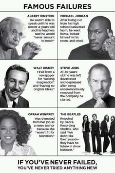 famous failures - i love this for a poster on our walls!!!!!!!! :) @Meighan Dober