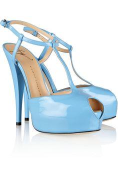 Giuseppe Zanotti Patent-leather T-strap sandals