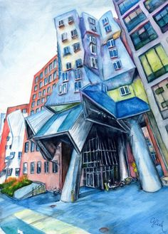 Stata Center MIT Boston A4 Fine Art Print by genevievecseh on Etsy, $12.00