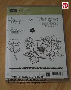 Birthday Blooms Stamp Set from the Stampin' Up! 2016 Occasions Catalogue (available Jan 5, 2016).  http://tracyelsom.stampinup.net