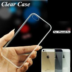 For Apple Iphone 5, 5S Ultra Thin Soft Silicone Transparent Back Case Cover