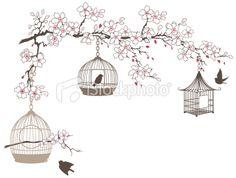 Birdcage Silhouette Tattoo