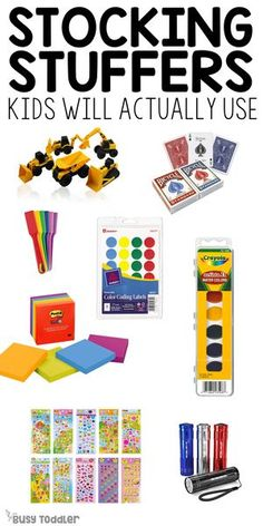 Stocking Stuffers for Kids (that they'll actually use) - Busy Toddler - - What are the best stocking stuffers for kids? They don't have to be more toys or more dollar section clutter - check out these awesome ideas! Toddler Stocking Stuffers, Stocking Stuffers For Adults, Best Stocking Stuffers, Christmas Stocking Stuffers, Tic Tac Toe, Childrens Christmas, Kids Christmas, Christmas Shopping, Lego Duplo