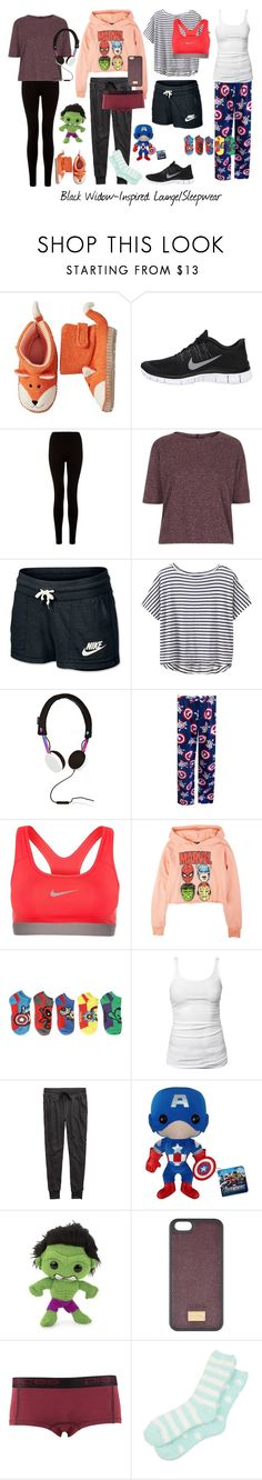 """Natasha Romanov - Inspired, Pt. II (headcanon in description)"" by lydiaa021 ❤ liked on Polyvore featuring NIKE, Topshop, Athleta, Marc by Marc Jacobs, Marvel Comics, Marvel, James Perse, Aerie, Funko and Dolce&Gabbana"