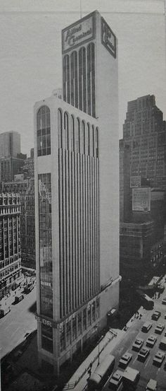 1965 TIMES TOWER Allied Chemical 42nd Street at 7th Avenue and Broadway, NYC