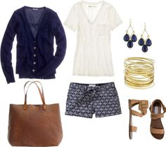 """""""Blue & White"""" by bluehydrangea on Polyvore"""