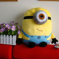 "Despicable Me Minion Plush Stuffed Animal Cushion Pillow 17"" Stewart Soft Doll"