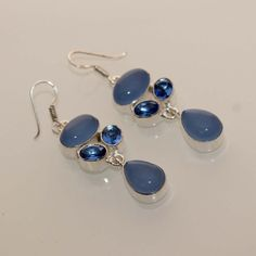 Beautiful chalcedonyblue quartz new wearable by 925silvercreation, $7.00