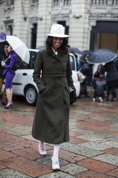 military #coat #streetstyle