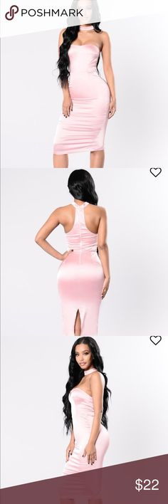 Fashion Nova BNWT satin dress It's brand new. With tags. The size doesn't fit me and it's too late to return. Sold out online. Size M Fashion Nova Dresses Midi