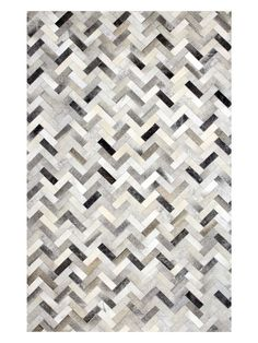 Chevron Cowhide Hand-Stitched Rug from Buyers' Picks: Rugs on Gilt