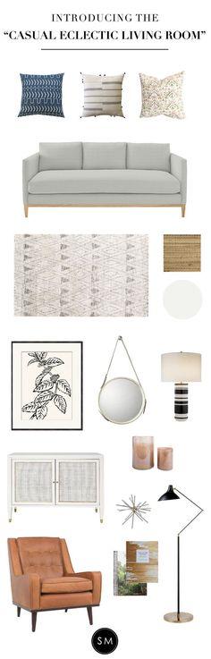 Casual Eclectic Living Room - STUDIO MCGEE #casualfamilyroomdesign
