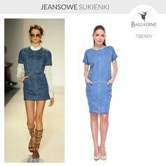 Nieśmiertelny jeans wygląda świetnie również na sukienkach! Lubicie jeansowe ubrania czy jesteście wierne jedynie jeansowym spodniom?  Sukienka SU | http://goo.gl/0RXjq6 Sukienki w Balladine | http://www.balladine.com/sukienki-5-k