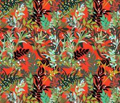 Red Leaves fabric by alyssakorea on Spoonflower - custom fabric
