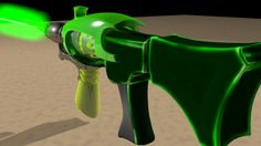 3D Futuristic gun. Modeled, textured and animated.