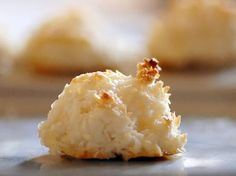 Gluten-Free Easy Coconut Macaroons recipe made with 5 ingredients --shredded coconut, egg whites, honey, vanilla, and salt. Paleo and gluten-free.
