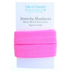 Another use for FOE!!! Neon Pink Stretchy Shoelaces