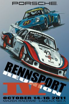 Rennsport IV historic Porsche poster is retro awesome