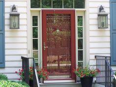 Beveled Glass In Storm Door Makes It Pretty. A Storm Door Is Nice When I