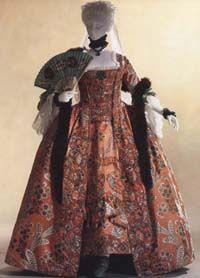 "Dress (""robe à la française"") c. 1760 (fabric: c. - France - The Kyoto Costume Institute 18th Century Dress, 18th Century Clothing, 18th Century Fashion, Vintage Outfits, Vintage Dresses, Vintage Fashion, Victorian Dresses, Victorian Gothic, Gothic Lolita"