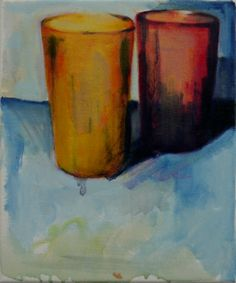 Plastic Beakers #2 oil on canvas 23x30cm