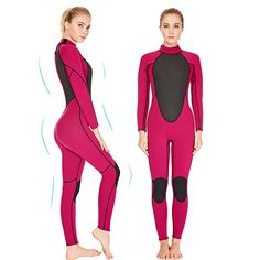 Find the best prices on Realon Womens Wetsuit Full Neoprene Surfing Scuba Diving Snorkeling Swimming Suit (Pink M) and save money. Scuba Diving Suit, Women's Diving, Swimming Diving, Triathlon Wetsuit, Best Physique, Water Surfing, Suits For Sale, Suit Sale, Seiko Diver